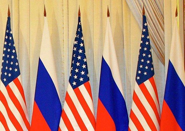俄美两国国旗