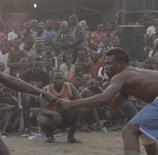 尼日利亚古老Dambe单手拳击