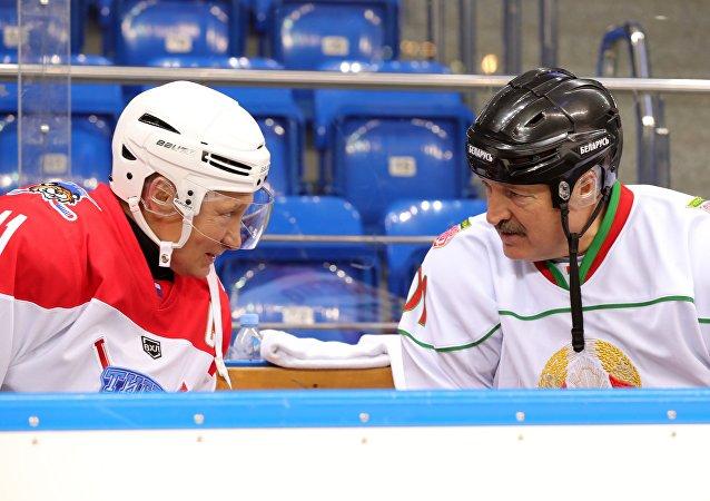 白俄罗斯总统卢卡申科与俄罗斯总统普京