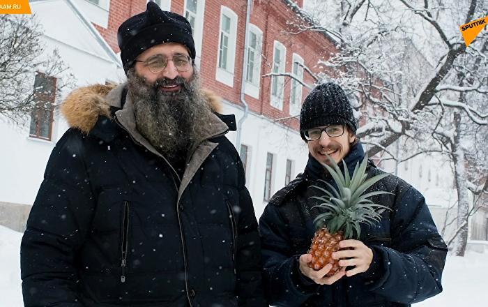 俄罗斯僧侣在寒冷的北方种植菠萝