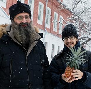 俄羅斯僧侶在寒冷的北方種植菠蘿
