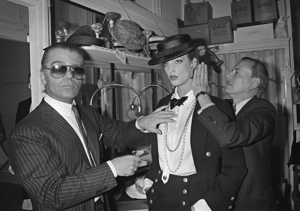 时装设计师卡尔•拉格斐,1983年