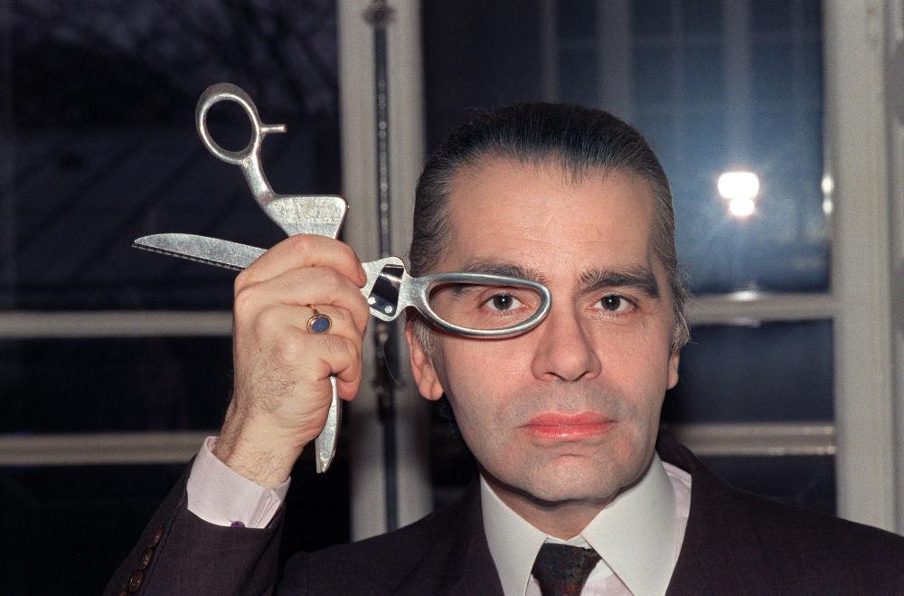 时装设计师卡尔•拉格斐,1987年