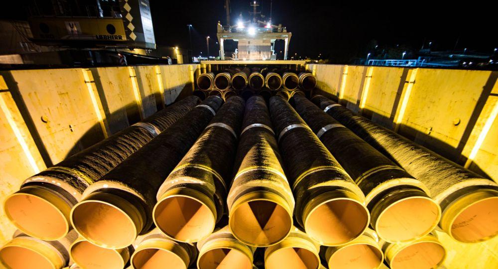 """德国总理:欧盟委员会无法阻止落实""""北溪-2""""号天然气管道项目"""