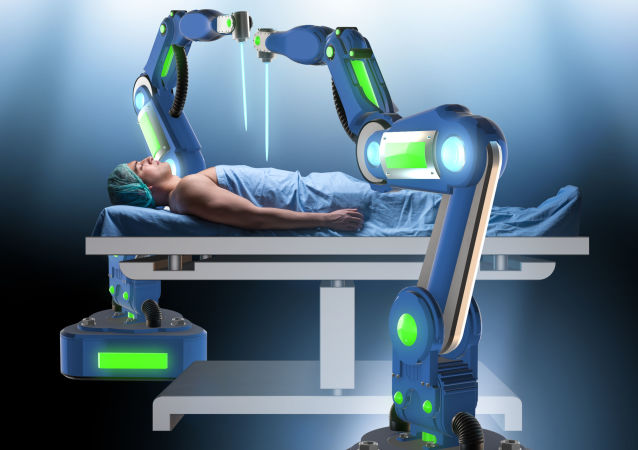 俄秋明州机器人外科医生为患者做膀胱手术