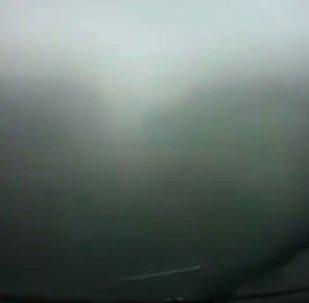 视频录下摩尔多瓦总统车队发生事故瞬间