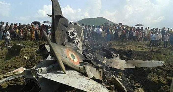 印军战机坠机现场