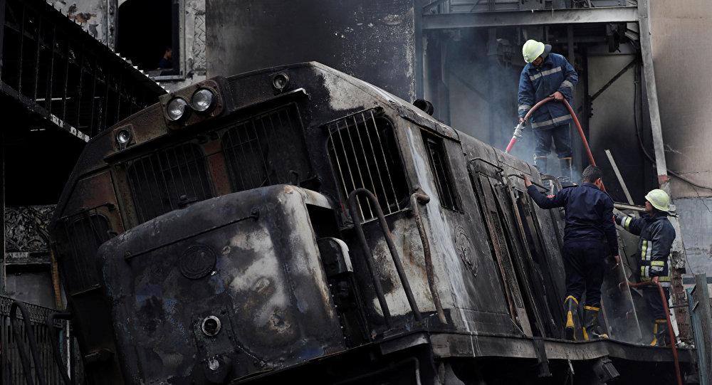 消息人士:開羅火車站大火造成28死逾50傷
