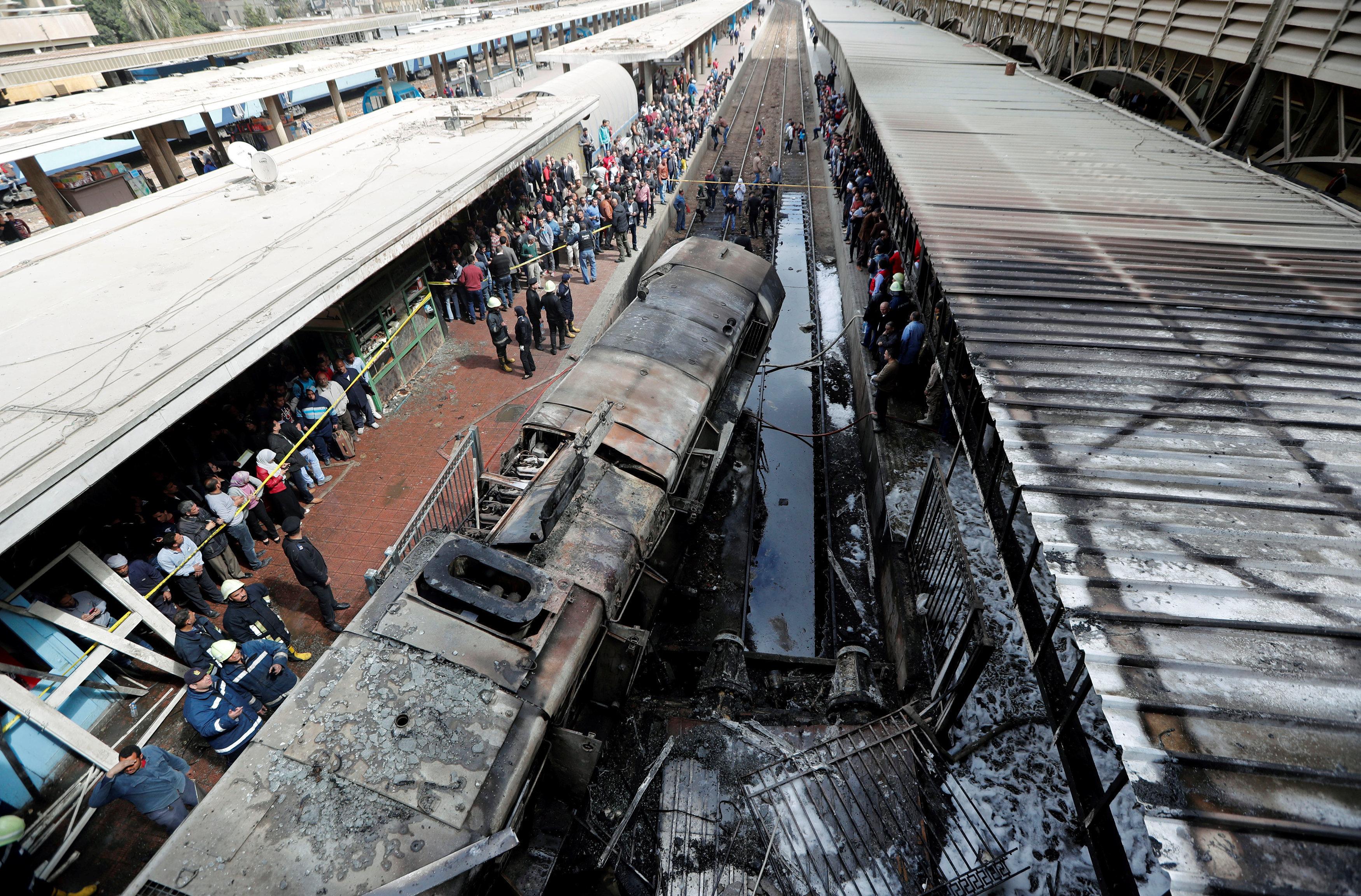 開羅火車站大火造成28死逾50傷
