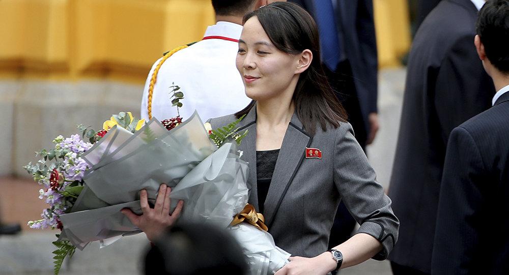 朝鲜领导人金正恩的胞妹金与正