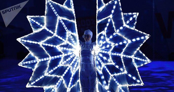 第二十九屆世界大學生冬季運動會開幕式在俄克拉斯諾亞爾斯克開始