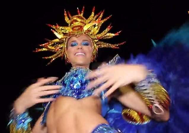 著名的巴西狂欢节已拉开帷幕