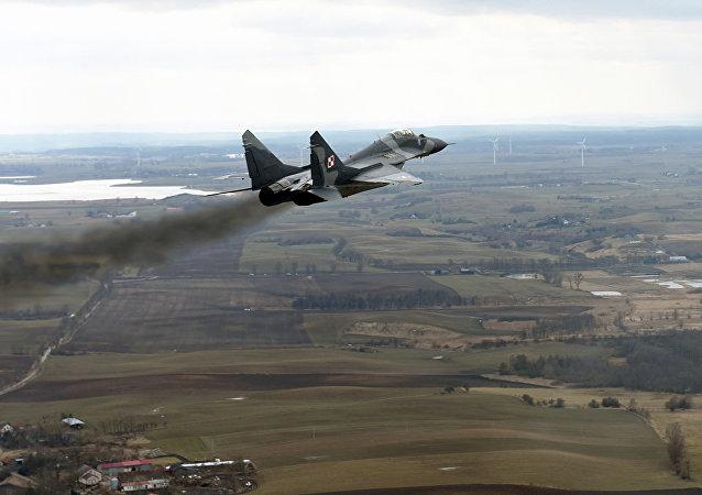 波兰空军一架米格-29战斗机坠毁