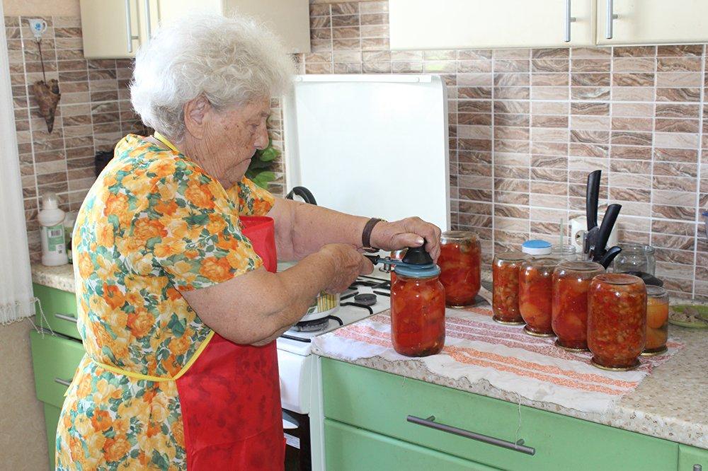 瑪利亞·科爾塔科娃做過冬食物