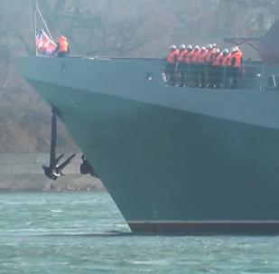 黑海舰队护卫舰从叙利亚返回塞瓦斯托波尔