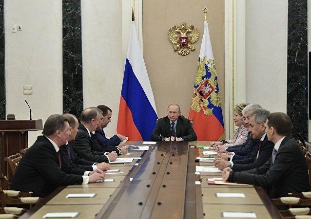 普京召集联邦安全委员会会议商讨对俄边境侦察问题
