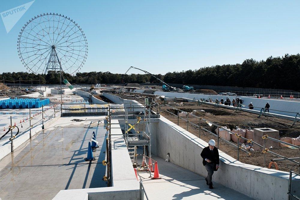 激流皮划艇赛场:组委会设想将其建设成为日本首个专为水上运动和娱乐设计的人工障碍赛道。