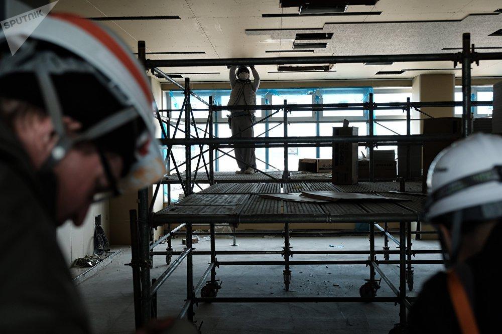 海上森林水上竞技场目前已完成77%的设施建设,其赛道长为2公里。