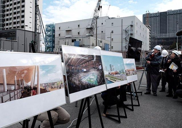 有明體操競技場:目前場館建設已完成62%。