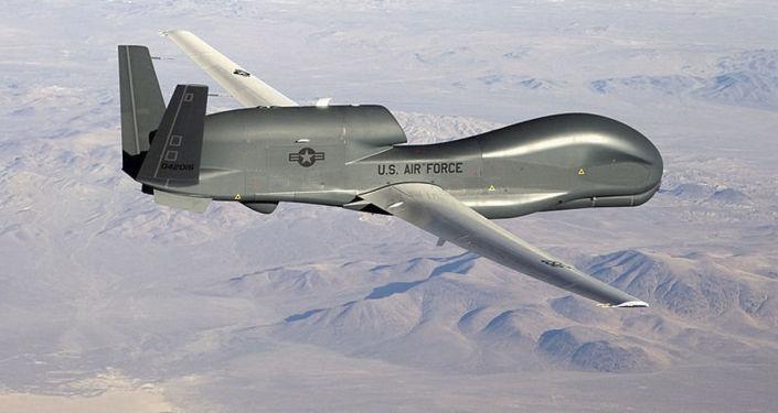 美国空军战略无人机RQ-4B全球鹰侦察机