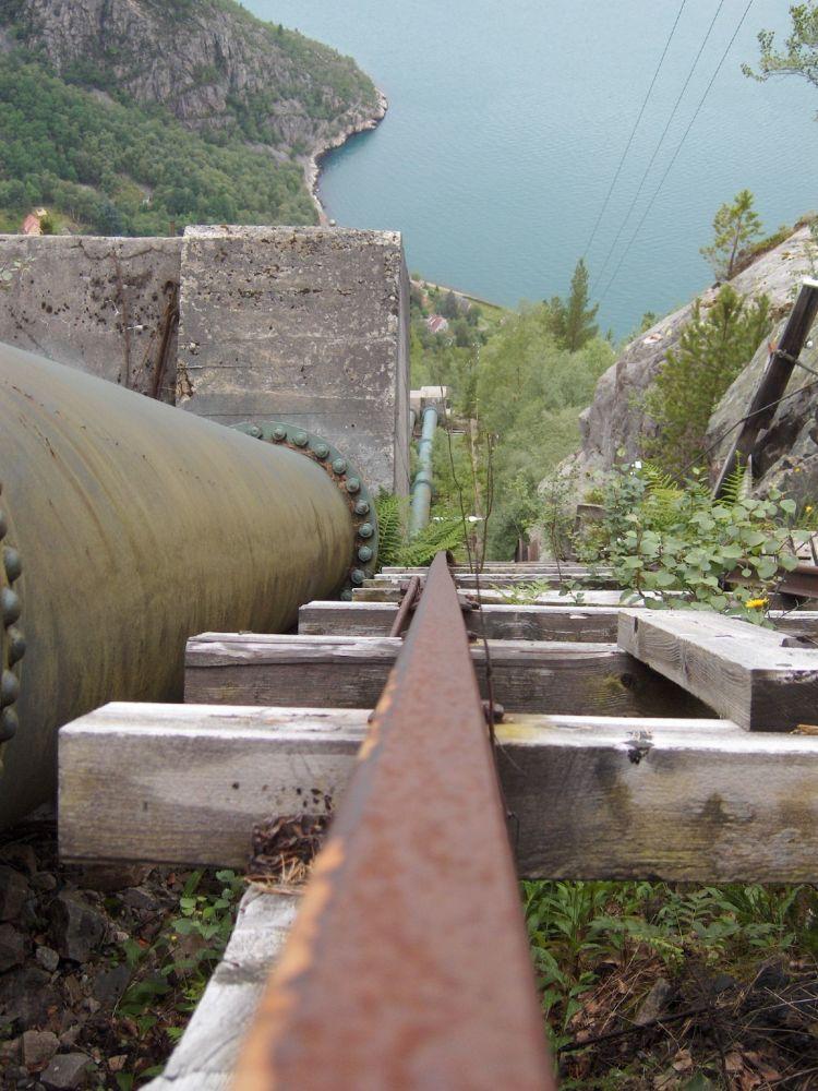 挪威弗洛里发电站的4444级阶梯