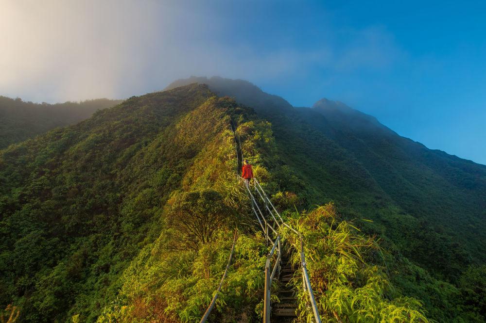 """美国夏威夷""""天堂之梯"""""""