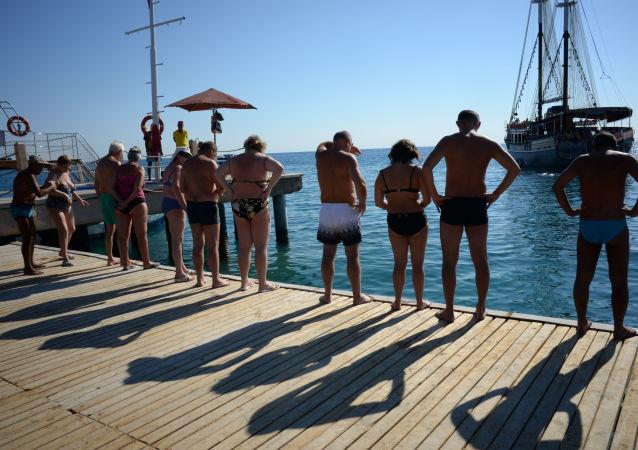 俄罗斯旅客在土耳其