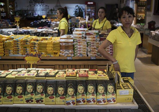 """""""阿廖卡""""巧克力在中国非常受欢迎"""