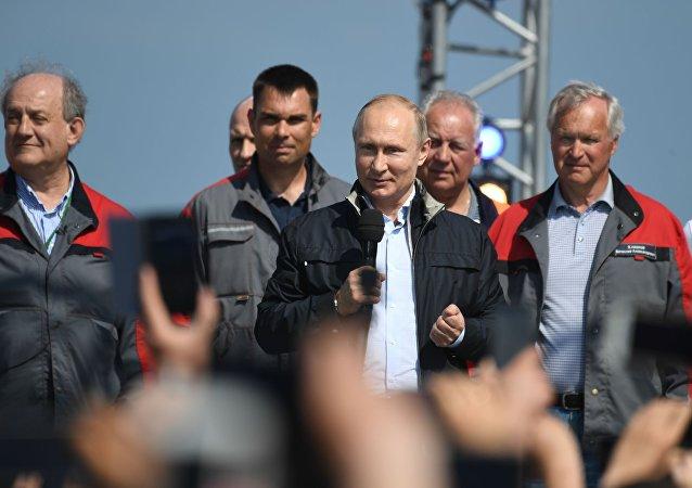 克宫:普京将出席克里米亚入俄庆典活动