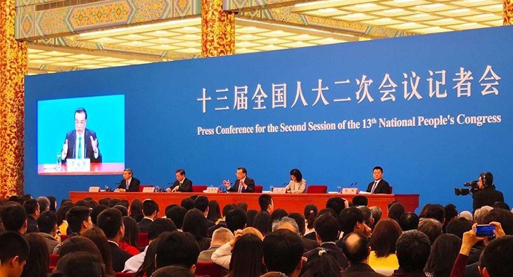 李克强15日在十三届全国人大二次会议闭幕后会见中外记者