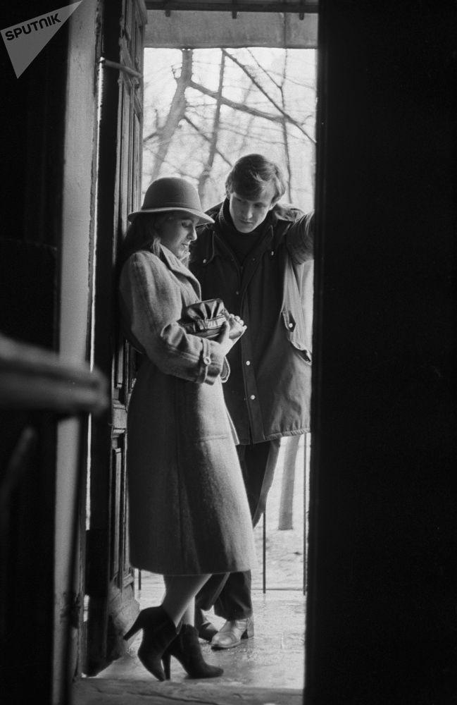 1987年莫斯科的年轻情侣