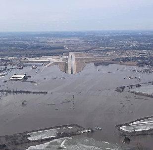 美国战略司令部被洪水淹没