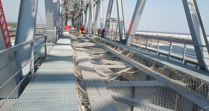 俄中跨阿穆爾河鐵路大橋兩段合龍日期確定