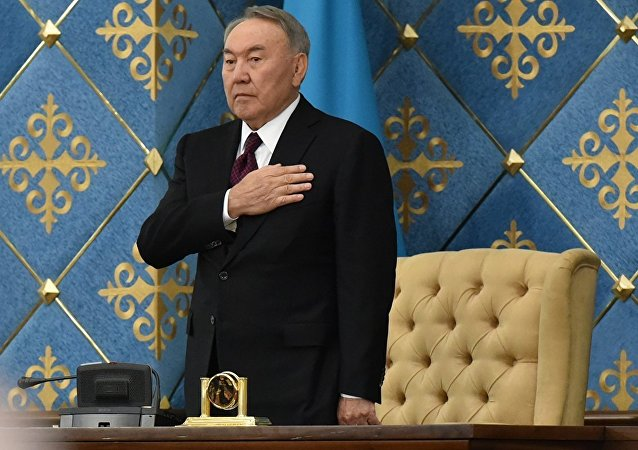 哈萨克斯坦首位总统纳扎尔巴耶夫