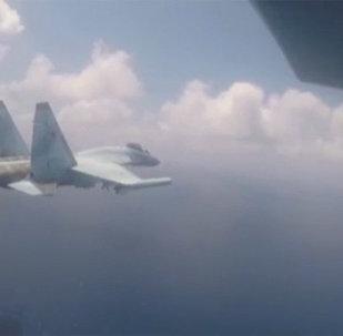 苏-35C在叙利亚演习被拍成视频