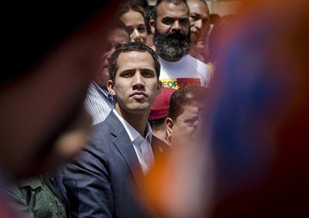 委内瑞拉反对派领导人胡安•瓜伊多