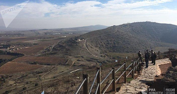 Вид на Сирию с контролируемой Израилем части Голанских высот