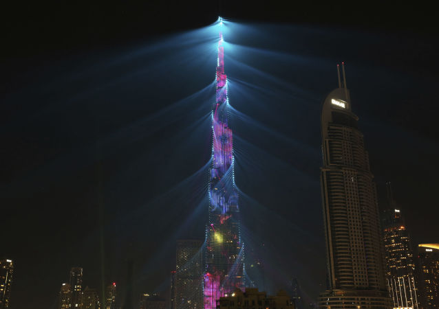 阿聯酋摩天大樓打燈感謝新西蘭總理