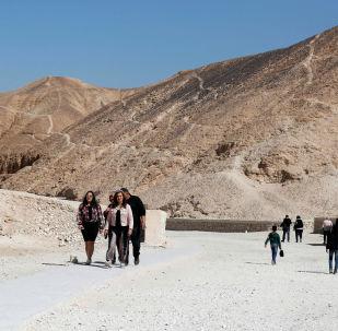 埃及安全部队从沙漠中救出11名中国游客