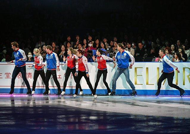 俄罗斯队在花滑世锦赛奖牌总数上居第一位