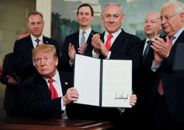 专家:特朗普承认戈兰高地为以色列领土的决定是冒险行为