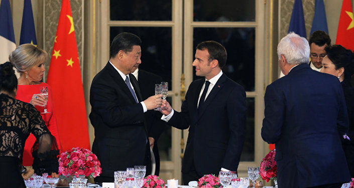 French President Macron holds state dinner for Chinese President Jinping at the Elysee Palace