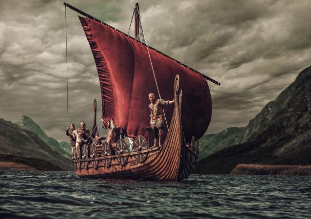 挪威一墓室中发现维京船