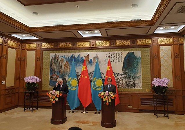 中國外長王毅:中國計劃與哈薩克斯坦加強安全合作