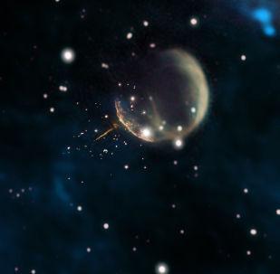 泡泡狀超新星遺跡CTB1和脈衝星J0002+6216發光的痕跡