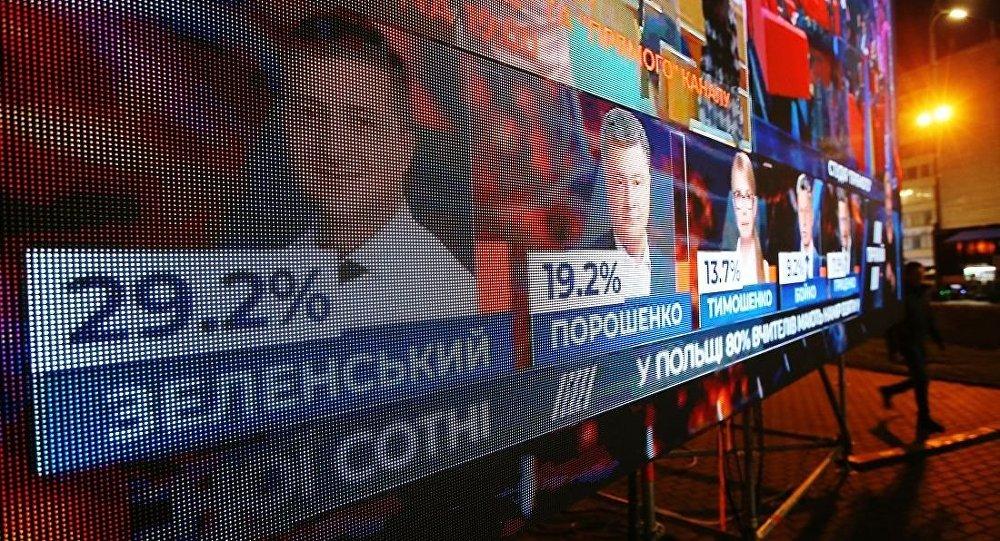 泽连斯基以30.24%的得票率赢得乌克兰总统大选第一轮,波罗申科进入第二轮