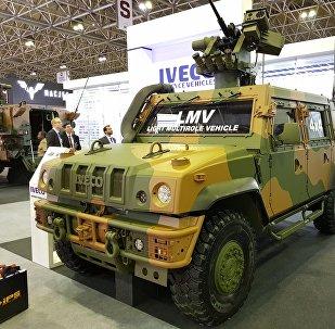 Бронемашина LMV Lince, стоящая на вооружении бразильской армии, производства итальянской Iveco