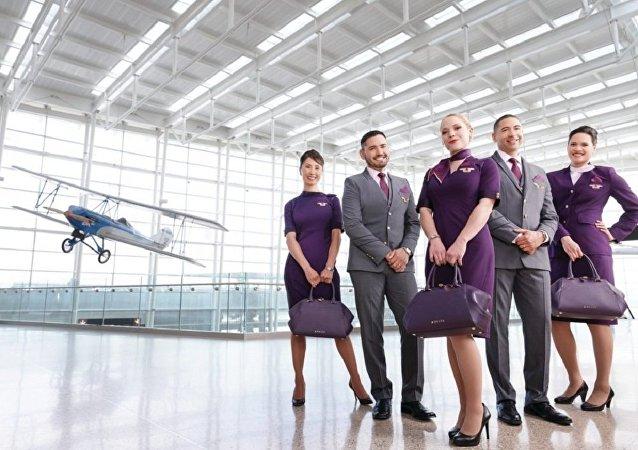 达美航空公司的空姐抱怨因新制服导致出现斑疹