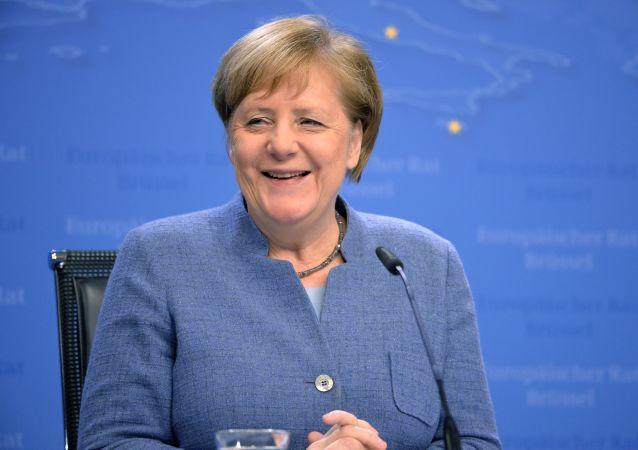 Федеральный канцлер Германии Ангела Меркель на саммите Европейского совета в Брюсселе