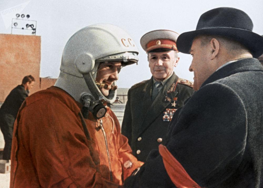 升空前谢尔盖·科罗廖夫对飞行员-宇航员尤里·加加林临别赠言